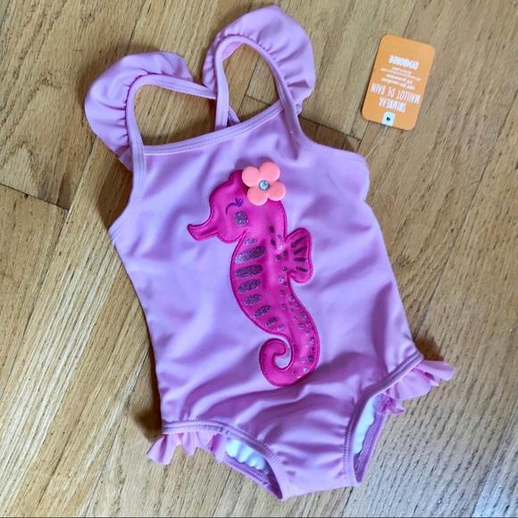 Toddler many Sizes NWT Gymboree Swim Seahorse Rash Guard Set Swimsuit UPF 50